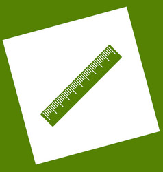 Centimeter ruler sign white icon obtained vector