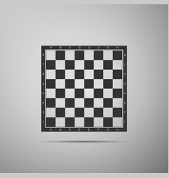 Chess board flat icon on grey background vector
