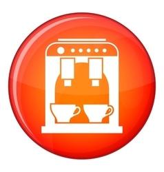 Coffee machine icon flat style vector