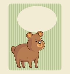 cute bear poster image vector image