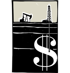Drilling for Money vector image vector image