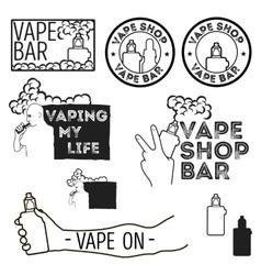 Electronic cigarettes set vector