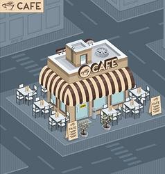 Facade coffee shop vector image