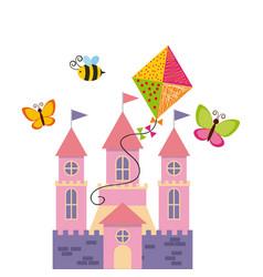 Fairy castle icon vector