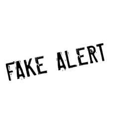 Fake alert rubber stamp vector