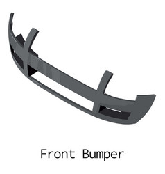 Front bumper icon isometric 3d style vector