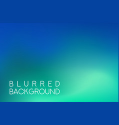 horizontal wide blue green turquoise sea blurred vector image vector image