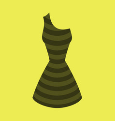 icon in flat design fashion clothes summer dress vector image vector image