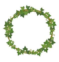 Ivy round frame vector
