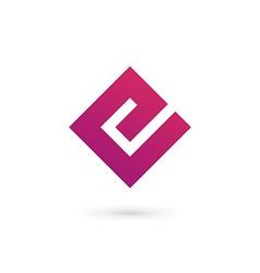 Letter e logo icon design template elements vector
