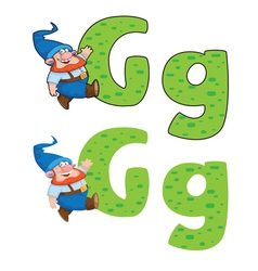 Letter g gnome vector