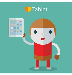loveTablet vector image vector image