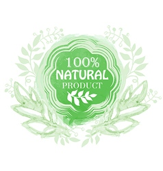 Natural product floral label vector