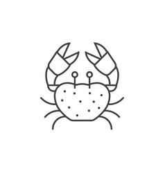 sea crab line icon vector image vector image
