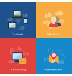 Set of flat compositin vector image vector image