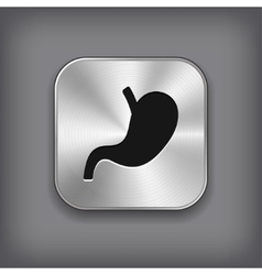Stomach icon - metal app button vector
