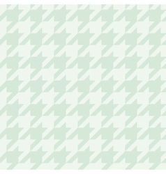 Tile mint green houndstooth pattern vector image