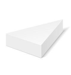 white cardboard triangle box packaging for food vector image vector image