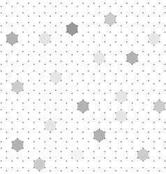 White hexagons abstract background vector image vector image