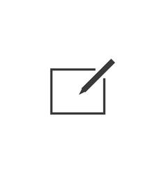 Write icon line style vector