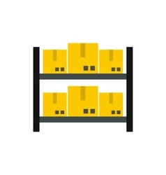 Storage of goods icon flat style vector