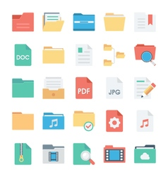 Files and folders icons 2 vector