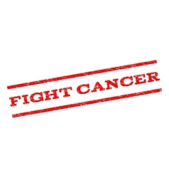 Fight cancer watermark stamp vector