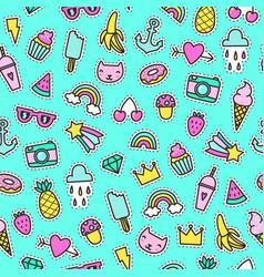 cute pins seamless pattern vector image