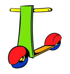 Push scooter icon icon cartoon vector