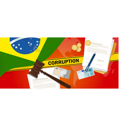 Brazil corruption money bribery financial law vector