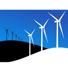 Eco windmills vector