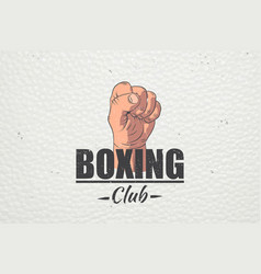 Realistic and detailed boxing club emblem boxing vector