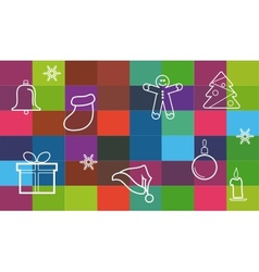 Collection of different christmas items christmas vector