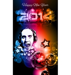 2014 new years party background for club flyers vector