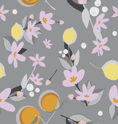 Oranges and lemon seamless pattern vector