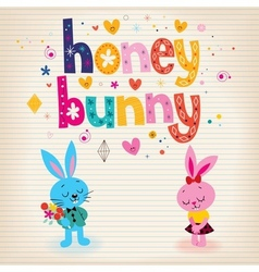 Honey bunny vector