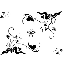 Floral swirl element vector
