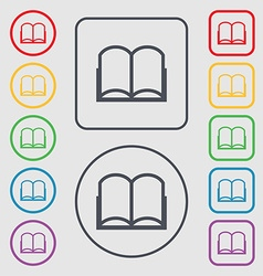 Book sign icon open book symbol symbols on the vector