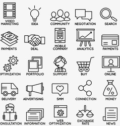 Set of seo and internet service icons - part 1 vector image