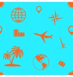 Seamless pattern of tourism and recreation vector
