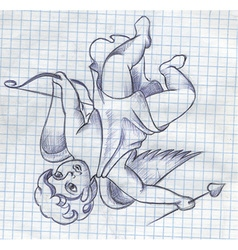 Cupid drawing vector
