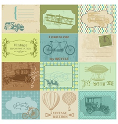 Design Elements - Vintage Transportation vector image