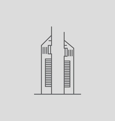 Emirates towers vector