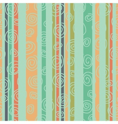 Multicolored striped background with spirals green vector
