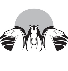three horses vector image