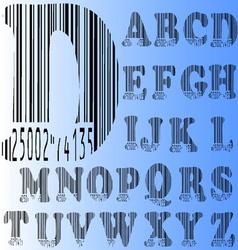 Barcode alphabet a to z vector