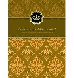 Baroque Floral Card vector image