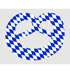 Bavarian pretzel vector