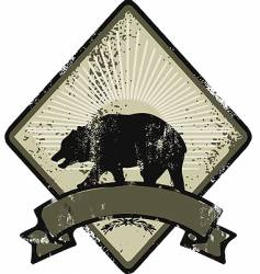 Bear army emblem vector