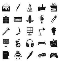 Boon icons set simple style vector